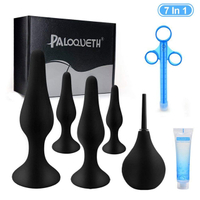 PALOQUETH 4 Butt Plugs 1 Enema Set